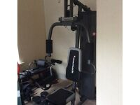Maximuscle Multi Gym Machine with bench and accessories + Aspire stationary Bike