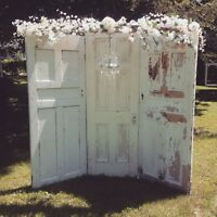 Rustic backdrop Outdoor Ceremony Rentals