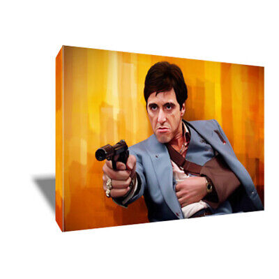Al Pacino SCARFACE Canvas Every Dog has its Day Poster Photo Painting on CANVAS