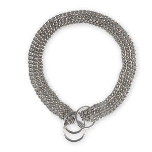 1PC 3*650P Pet Puppy Dog Stainless Steel Choke Chain Collar 22