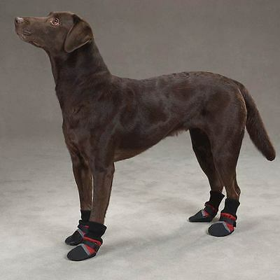 (Guardian Gear THERMAL LINED Dog Boots Shoes NON SKID SOLES  XXXS-XXL  RED BLUE)