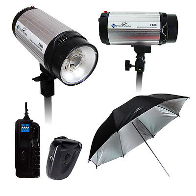600W Professional Studio Lighting Kit 2 x 300ws Studio Flash/Strobe on Rummage