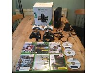 Xbox 360 console bundle - 250GB + 4 controllers + chargers