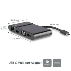 USB-C Multiport adaptor for laptops from startech.com