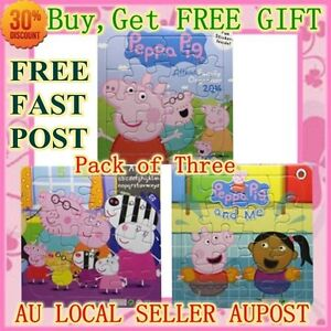 NEW PEPPA PIG PUZZLES KIDS PUZZLES PEPPA PIG TOYS 3 PIECES  BUY GET FREE GIFT
