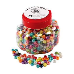 Creation Station 250g Barrel of Pony Beads Assorted Colour Approx 1000 CT2280