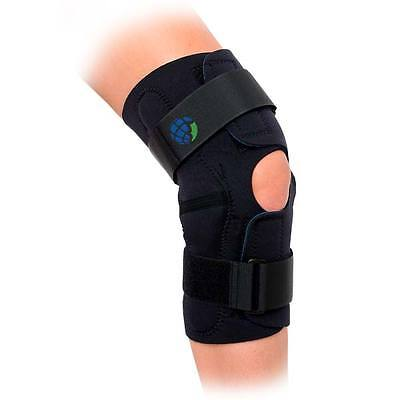 Advanced Orthopaedics Hinged Wrap Around Knee Brace Support  Sizes: Small to 5XL