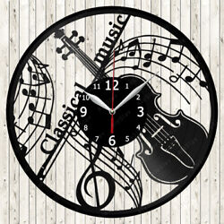 Classical Music Vinyl Record Wall Clock Decor Handmade 1482