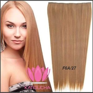 "CLIP IN hair extension,Straight hair, 24"", Color GOLDEN BROWN"