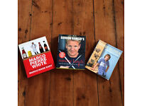 Cook books - Jamie Oliver, Gordon Ramsay and Marco Pierre white