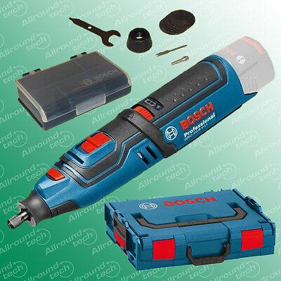 Bosch Akkurotationswerkzeug GRO 10,8 V-LI Schleifer Fräser  Solo + L-Boxx