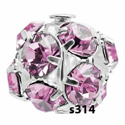 - Swarovski Crystal Rhinestone Ball Bead LIGHT AMETHYST Destash lot of 5 S314