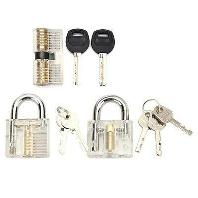 Transparent Practice Lock Training Padlock Locksmith Visible Clear View Us Stock