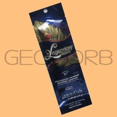 SWEDISH BEAUTY LEGENDARY BRONZE DHA BRONZER PACKET TANNING BED LOTION -