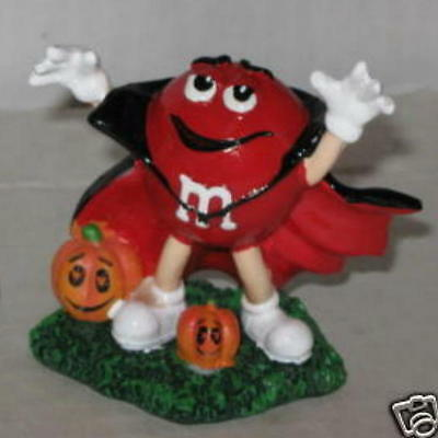M&M's Dracula Halloween Resin Figurine (Red) Approx 3