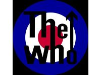 2 X THE WHO TICKETS £180 THE PAIR AMAZING SEATS BIRMINGHAM 12TH APRIL CAN POST OR YOU CAN COLLECT