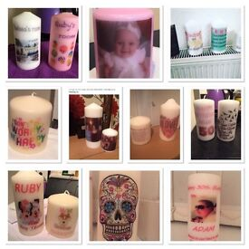 Personalised photo candles