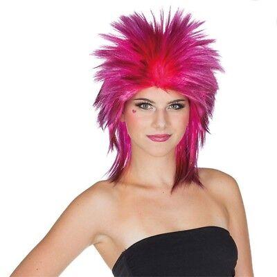 Kostüm-Zubehör Perücke Punk Gina pink Karneval Fasching - Punk Kostüm Zubehör