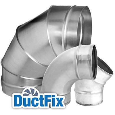 - 355Ø B90 Elbow Metal Ducting / Ductwork - Buy From The Manufacturer