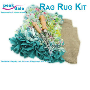 Peak Dale Rag Rug Making Kit Tool Hessian Gauge And Instructions Rugkit