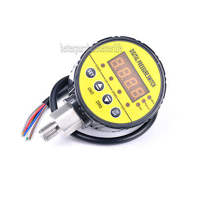 Digital Pressure Switch0-16bar 240v G14 For Water Pump Air Compressor Etc