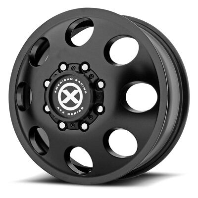 17 Inch Black Wheels Rims Baja Dually Chevy GMC Do