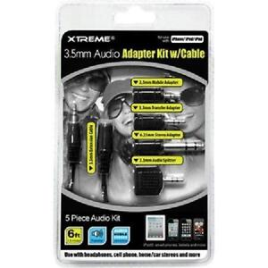 Xtreme 3.5mm Audio Cable with Adapter Kit - 5 Pieces - 50655