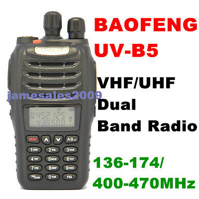 BAOFENG New UV-B5 VHF/UHF 136-174/400-470MHz Dual Band Radio on Rummage