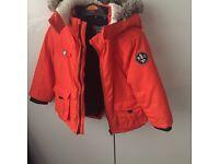 Boys orange winter coat
