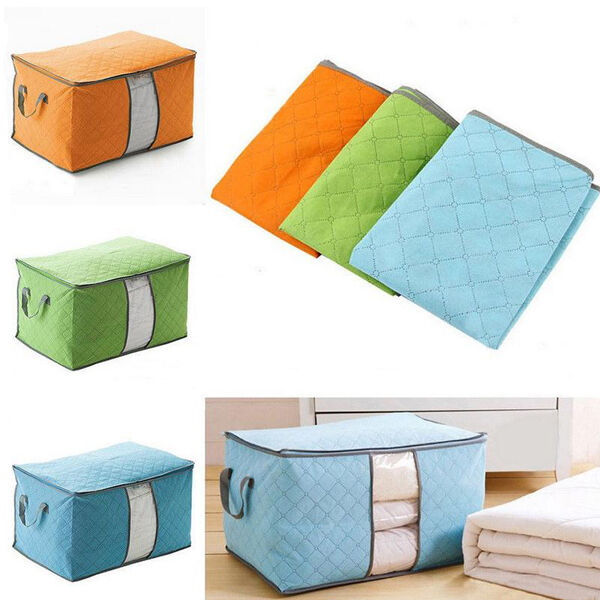 Large Clothes Quilt Bedding Fabric Zipped Handles Laundry Pi