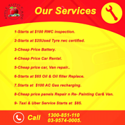 Affordable Price RWC Inspection Car,Van Repair,Start$25Used Tyre, Clayton South Kingston Area Preview
