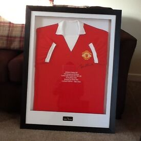 Original Manchester United signed shirts.