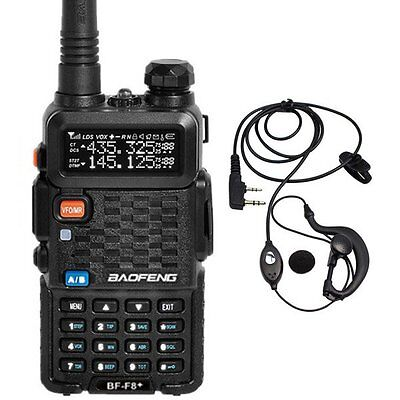 Baofeng BF-F8+ Dual Band UHF / VHF 2 Way Walkie Radio + BF-F8 Plus Earpiece US