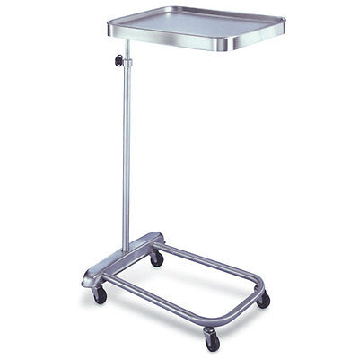Hand-operated Stainless Steel Mayo Stand With Standard-size Tray Tray Size ...
