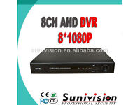 1080p ahd dvr 8 channel with 1tb harddrive free phone app xmeye for cctv camera