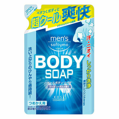 Kose Herren Softymo Cool Duschgel Andrang Menthol Odor-X Entfernung Refill 400ml