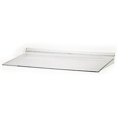Lot Of 10 Retail Acrylic Molded Slatwall Shelf - 16w X 10d