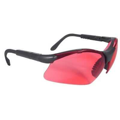 Radians Revelation Safety Glasses With Vermillion Red Lens Smoke Frame