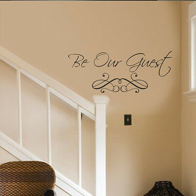Be Our Guest Wall Decal Welcome Door Saying Hair Shop Vinyl Removable Decor Idea](Door Decoration Ideas)