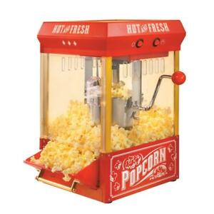 Nostalgia Popcorn Machine Kettle Hot Oil Popper Maker Red Movie Theater Style