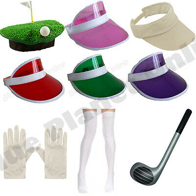 PUB GOLF GOLFER GOLFING VISOR HAT CLUB SOCKS & GLOVES FANCY DRESS HEN NIGHT