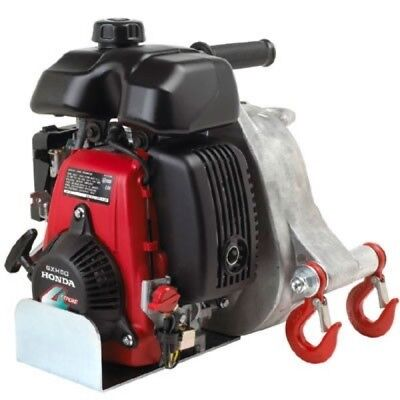 Portable Gas Capstan Winch 2.1 HP, 50cc Honda GHX-50 Engine, 1-Ton Capacity
