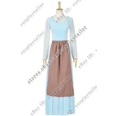 Cinderella Maid Costume (Cinderella 2015 Movie Ella Cosplay Cinderella Costume Maid Dress New)