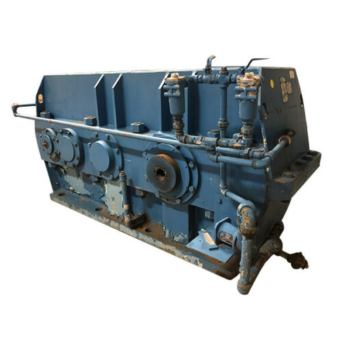 REBUILT Powertech Foote Jones 2803-HLD Enclosed Gear Drive Gearbox 182.98 Ratio