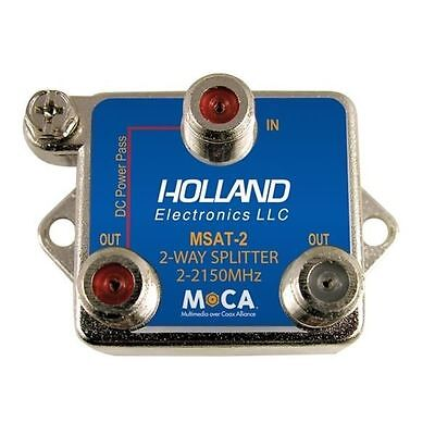 Holland Electronics MSAT-2 MoCA 2-Way Coax Splitter DIRECTV Approved - NEW