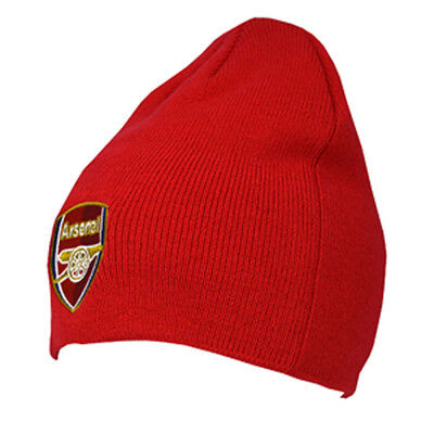Arsenal Core Cap (ARSENAL FC RED COLOUR CORE BEANIE KNITTED HAT CAP WINTER NEW XMAS)
