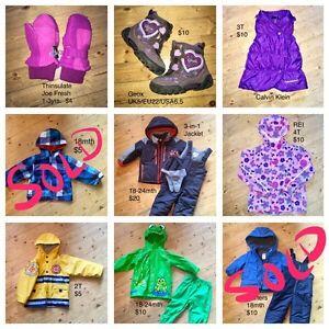 Children's outdoor gear, 18mth to 4T