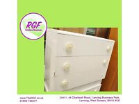 SALE NOW ON!! White Chest of Drawers - Can Deliver For £19