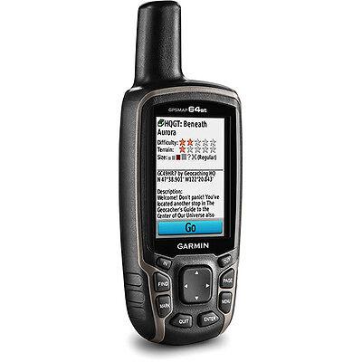 GARMIN GPSMAP 64st Handheld GPS Receiver Navigaror 64s w/TOPO maps 010-01199-20