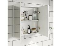 Bathroom cabinet (white mirror cabinet)